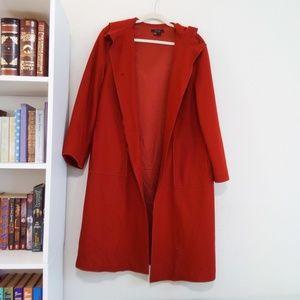 Zara Woman Long Maxi Red Coat with Hood